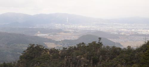 大津市の南部地域が見えますね。