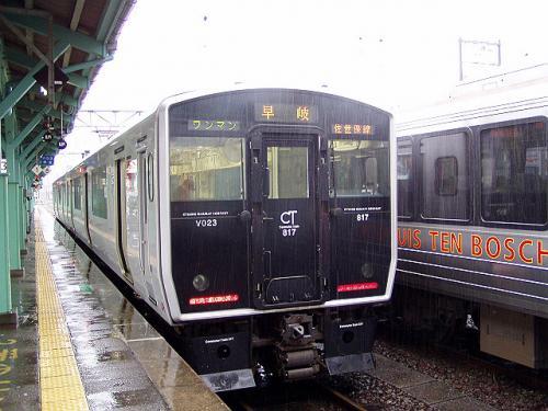 博多駅から快速列車で鳥栖まで行き、早岐行き普通列車に乗換えます。<br />早岐行きは2両編成のワンマン列車で佐賀まで混雑していましたがその後はガラガラになりました。<br />早岐で大村線の快速に乗り換えて諫早へ向かいます