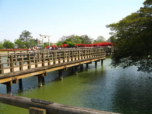 八条ヶ池と水上橋
