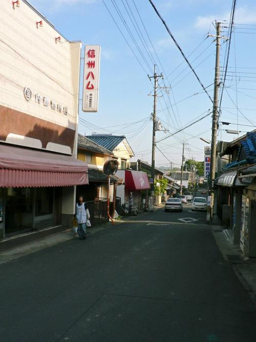 八幡の京街道。<br />