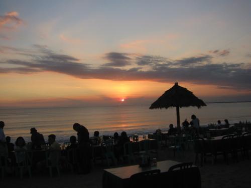 ジンバランの夕日