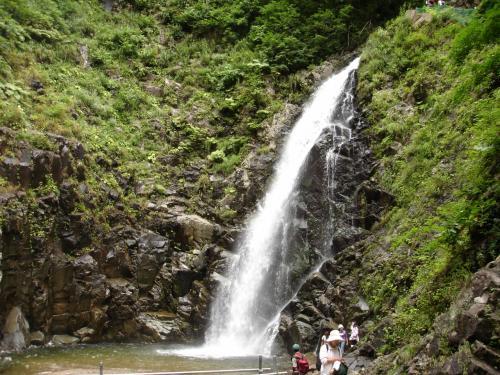 暗門の滝 第三の滝 高さ26M<br />ここでは休憩をしないで第二の滝を目指す