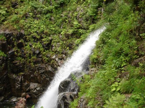 急な坂をのぼり第二の滝へいく道は 袋田の滝からうえに行く道と似た感じがした。