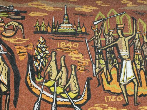 右手は1720年、中央部分は1840年の表示があります。オランダ支配からイギリス支配に代わったのが、1824年です。