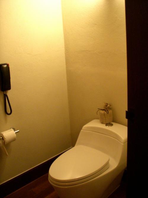 おトイレです。<br />ちゃんと扉があって(あたりまえですが)安心。