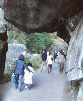 昇仙峡・石門をくぐる