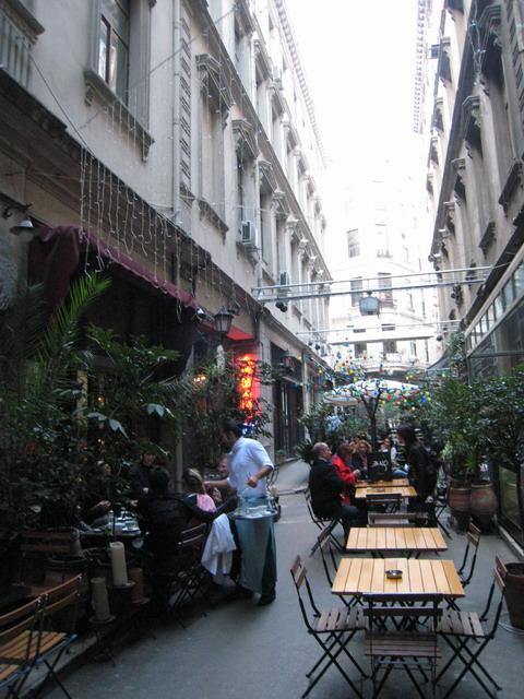 パサージュ、私が勝手に呼んでいるのだが。ここは私のフラットからチュネルへ行く通り道になっている。もちろん、パサージュはカフェやレストランだ。