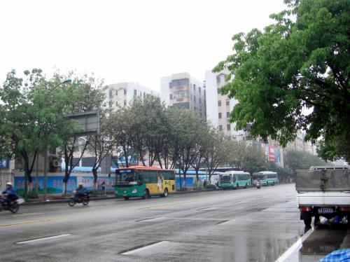 大石からバスに乗って市橋へ。<br />雨だったのでタクシーと思ったけど、市橋方面への車が全然来ない!<br /><br />朝の7時と言うのに、寒さでタクシーまで遅出なのでしょうか?<br />いつもバスで出かけているので、タクを諦めて最初にやって来た309路に乗り込んだ。<br /><br />数台やり過ごしたのを後悔。<br />新世界大厦のある禺山大道近くで下車するには、304,305,309路がベスト。