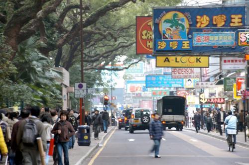 望遠で見ると、香港の特徴がマジマジと。