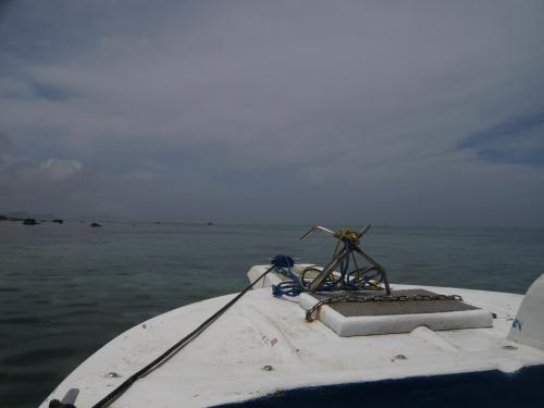果てしなく遠浅の海を、絶妙な舵取りでボートは進みます。<br /><br />このツアーでは、先導するガイドのお兄さんと、後ろから確認で付いてくるおじさんの2名がお世話してくれました。<br /><br />おぼれても、大丈夫か・・。