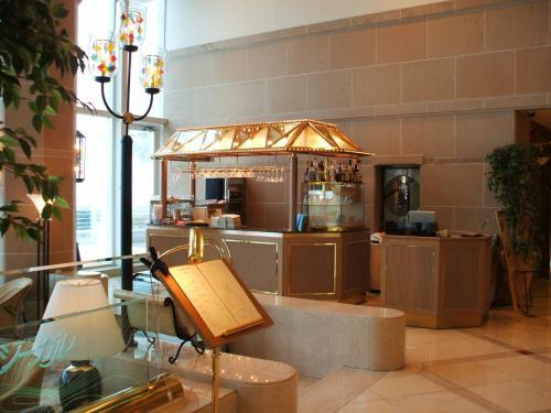 荷物を整理した後は、1階にあるカフェテラスラウンジ「シーガル」にコーヒーを飲みに行く。