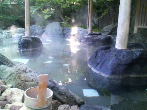 こちらが大浴場の外にある露天風呂。湯ったり、リラックスできました♪