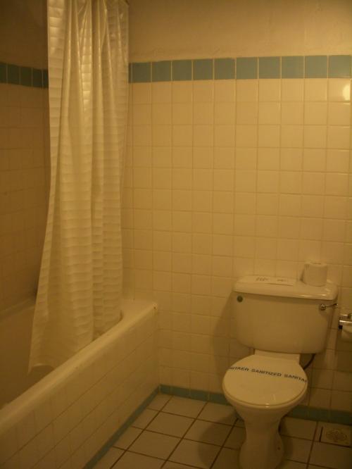 バスタブ、シャワー(固定)があります。<br />しかしこちらのホテルのアメニティはなんと石鹸1個!私の部屋だけ忘れられちゃったのかと思いましたが、他の人の部屋もそうだったようです。<br />