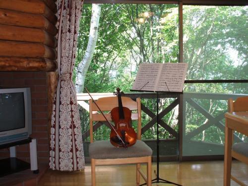 今回、コテージに泊まってみたかった最大の理由は「ヴァイオリン」である。私は趣味でヴァイオリンを弾いているのであるが、「森の中のコテージでヴァイオリンの練習をする」これがやってみたかった。