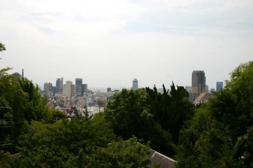 「本家オランダ館」の2階からの眺め。