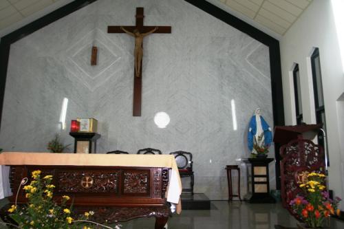 礼拝堂内部です。<br /><br />西欧的なものと中国的なものがうまく溶け合って、素晴らしい空間を作りあげています。