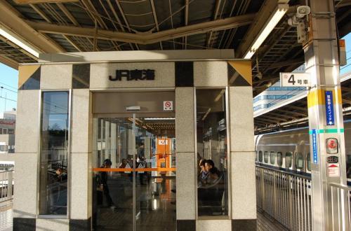 待合室には「JR東海」の文字。<br /><br />JR東海の試合もみたいなぁ。。。