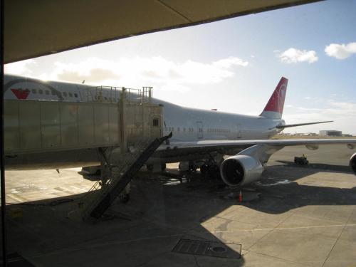 11月1日 成田、関空からノースウエスト航空にて<br />ハワイ、ホノルル空港へ出発