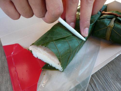 ランチは前日に高山市内で購入した<br />【飛騨ぶり寿司】<br />初めてのぶり寿司、美味しかった〜♪