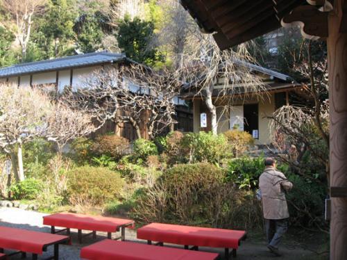 境内には、桜の時期のお花見に丁度良いお茶席がありました。<br />奥は、お茶室です。