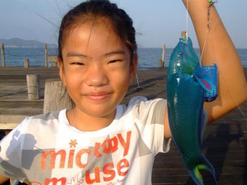 魚釣りを思う存分楽しめた子供達。