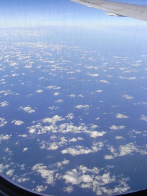 ああ、あっという間に成田が目前!<br />何度見ても飛行機から見る空はきれい。