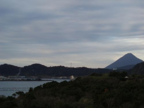 開聞岳も見えました。