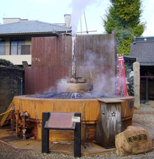 泉質は、塩分と鉄分を多く含み褐色を呈する含鉄強食塩泉、ラジウムを多く含むラジウム泉(ラドン泉)、炭酸を多く含む炭酸泉があり、それぞれ、湧き出し口では透明ですが空気に触れ着色する含鉄強食塩泉を「金泉」、それ以外の透明な温泉を「銀泉」と呼ばれています。<br />➛天神泉源