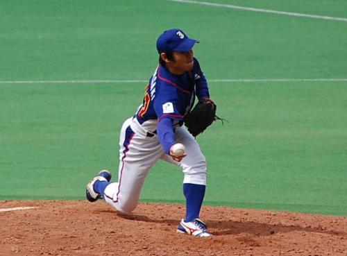 球場に付いた時、JFEの福井良輔投手の姿はマウンドになく、川崎投手が投げていました。<br />