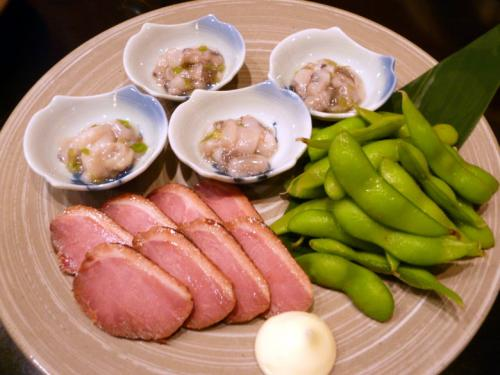 鴨ロース <br /><br />蛸山葵 <br /><br />枝豆