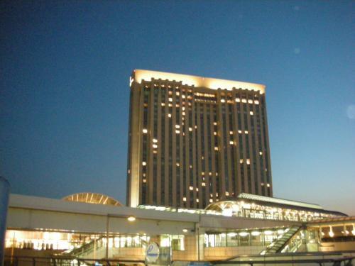 アクアシティお台場から見たホテル。