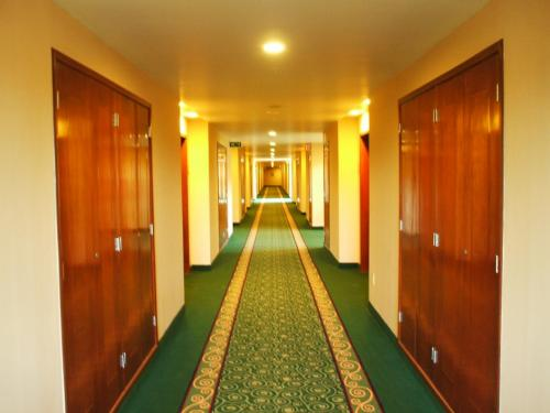 客室に向かう廊下。