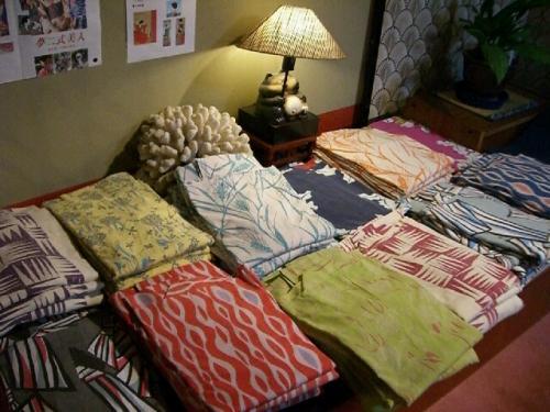 女性客には「竹久夢二の浴衣」が選べる。