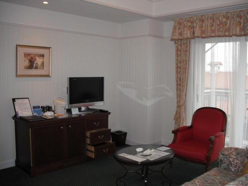大きなソファーと椅子、テーブルもあり、リビングのスペース(写真)もゆとりがある。