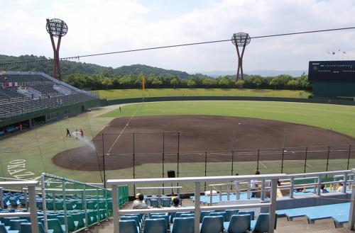 広い球場です!<br /><br />センターが126メートルあります。