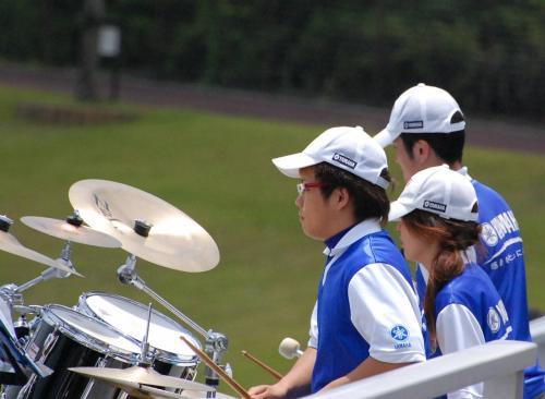 野外音楽隊ではありません。<br />ヤマハの応援は上手です。
