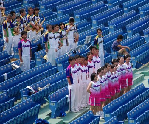 2試合目の観戦です。<br /><br />好きではないJR東日本の応援団。