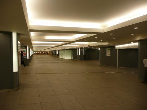 東京駅丸の内側の地下。すげえ、初めて着た。いつの間にできたの?<br />東京駅まで着たから新幹線かというと、然に非ず。バスに乗って帰ります。深夜バス、常設路線だと往復¥20,000くらい。片道¥10,000.ところがネットで片道¥5,500というのを見つけました。プーなので金はないが時間はある。それで行くことにしました。