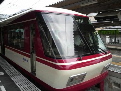 西鉄福岡駅から特急で12〜13分で二日市に到着。特急だと速いな〜<br />