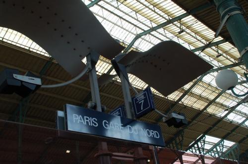 パリ北駅(PARIS Gare du Nord)に到着。一年振りなので、帰って来たなあという感じ。