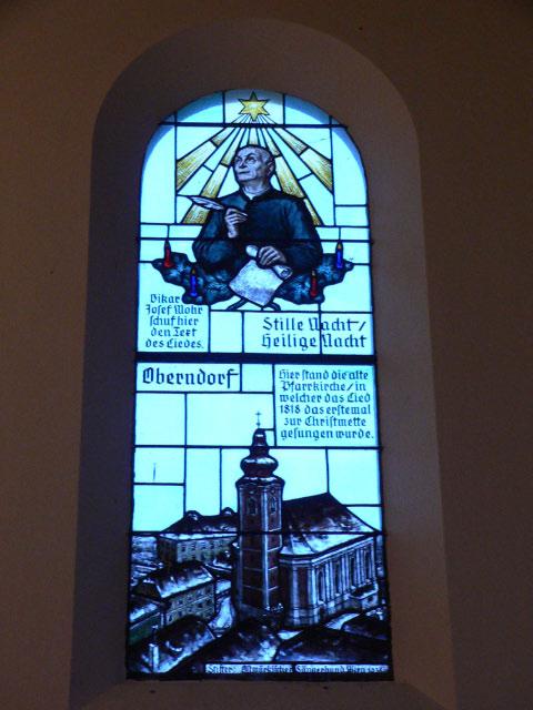ステンドグラスも、作詞をしたヨゼフ・モール神父と