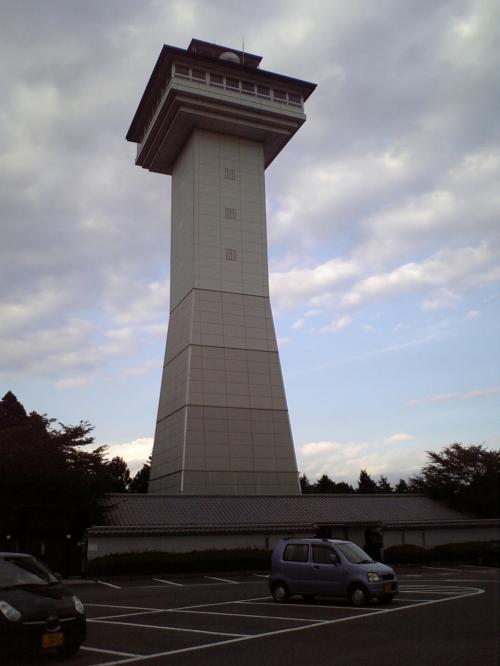 喜連川スカイタワー<br /><br />天守閣をイメージしているそうです。