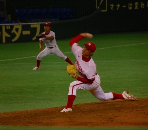 22日<br /><br />日産自動車 石田投手。<br />エースらしい投球を見せてくれました!<br /><br />