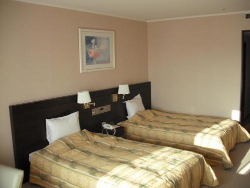 本日の部屋は7階の南アルプス側洋室(713号室)。リニューアルされた客室(写真)に入る。