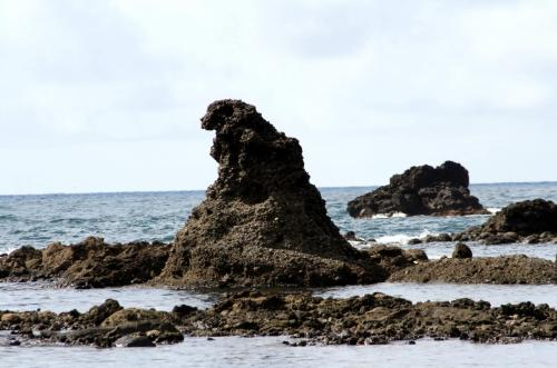 ■金沢・能登半島・白川郷旅行記<br /><br /><ゴジラ岩>石川県珠洲市<br /><br /> ちょっと別角度から写しておきました。よかった!今、写真で見てもやっぱりモスラだあー! <br /> 現地ではホントにモスラに見えたのです。