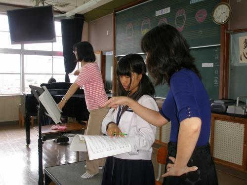 先生方の熱心な指導