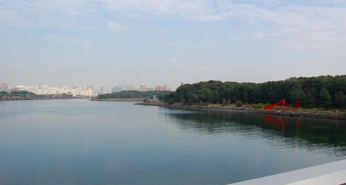 もう少しで、大田です。<br /><br />橋の上から・・・。