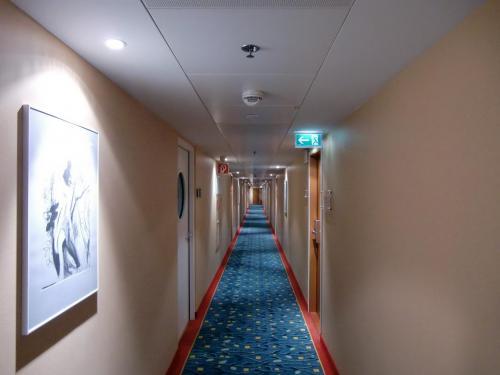 メガボーナスのキャンペーン期間中に全世界のマリオット系列のホテルに宿泊すると、マリオットリワードの宿泊ポイントとエリート宿泊日数が共に2倍になる。これを逃す手はない。写真:ホテルの廊下