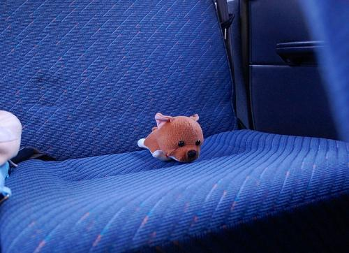 「ぼくは、後ろの席に座ったよ。」 しばた