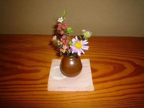 その戸の横には小さなお花が飾ってありました。